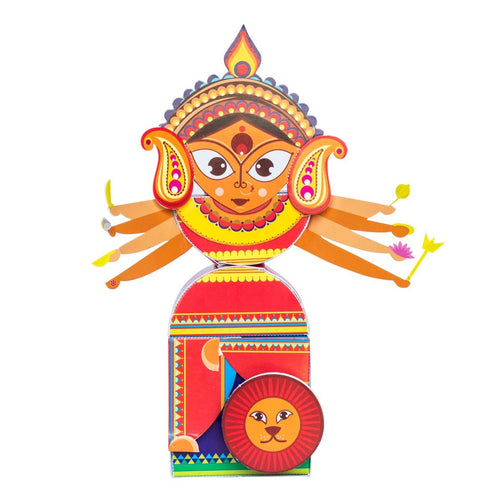 Buy Toiing 3D DIY Paper Craft Kit - Craftoi Durga, Teach Kids About Festivals - GiftWaley.com