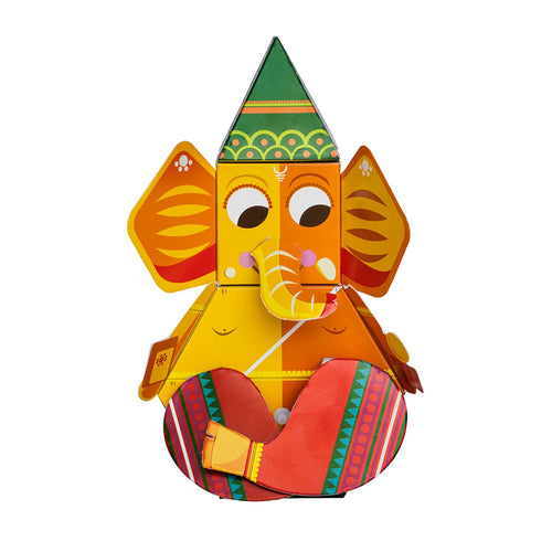 Buy Toiing 3D DIY Paper Craft Kit - Craftoi Ganpati, Teach Kids About Festivals - GiftWaley.com