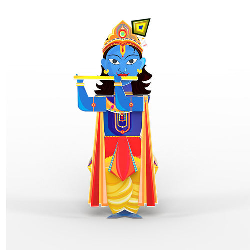 Buy Toiing 3D DIY Paper Craft Kit - Craftoi Krishna, Teach Kids About Festivals - GiftWaley.com