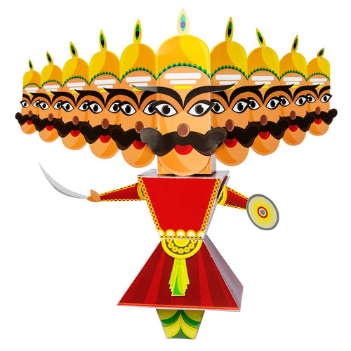 Buy Toiing 3D DIY Paper Craft Kit -  Craftoi Raavan, Teach Kids About Festivals - GiftWaley.com