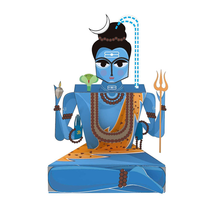 Buy Toiing 3D DIY Paper Craft Kit - Craftoi Shiva, Teach Kids About Festivals - GiftWaley.com