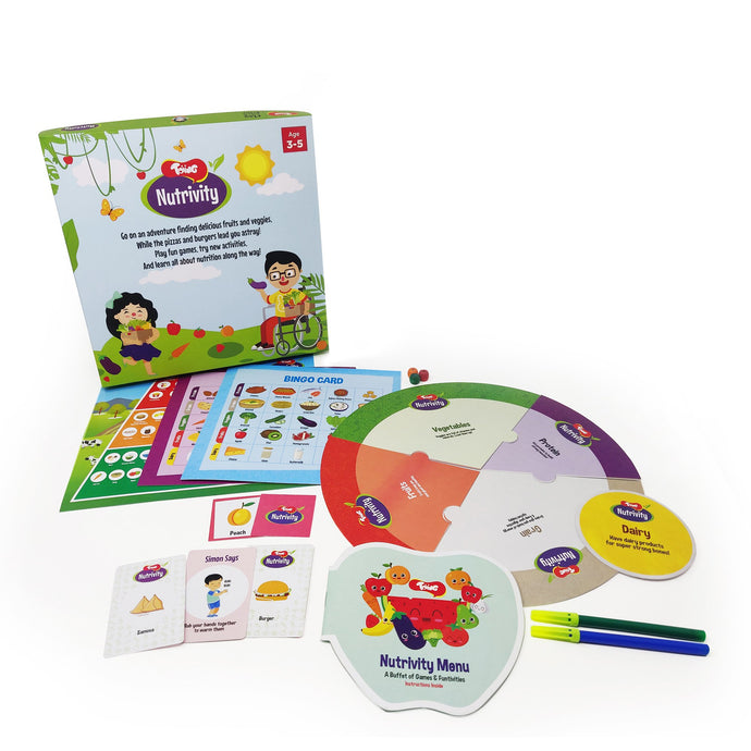 Buy Toiing 4-in-1 Food & Fitness Game - Nutrivity, Teach Kids About Good & Bad Foods - GiftWaley.com