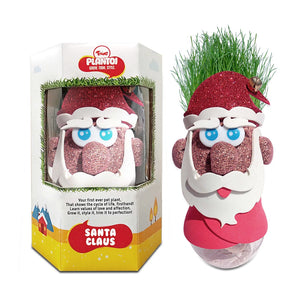 Buy Toiing Plantoi Santa Claus - Pet Plant, That Grows Real Grass - GiftWaley.com