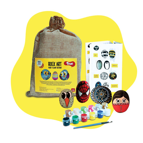 Buy Toiing Rock Painting & Colouring Sets - Rock Art Kit, Creative Reusable - GiftWaley.com