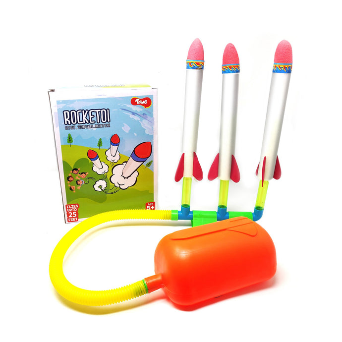 Buy Toiing Triple Stomp Rocket - Rocketoi Fun Outdoor Toy - GiftWaley.com