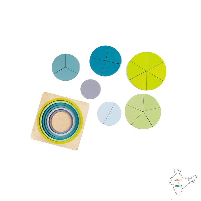 Buy Toyroom Wooden Fraction Puzzle - 6 layers - GiftWaley.com