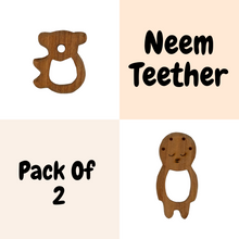 Load image into Gallery viewer, Buy Wufiy Bear & Baby Shape Neem Wood Teethers Glazed With Virgin Coconut Oil - GiftWaley.com