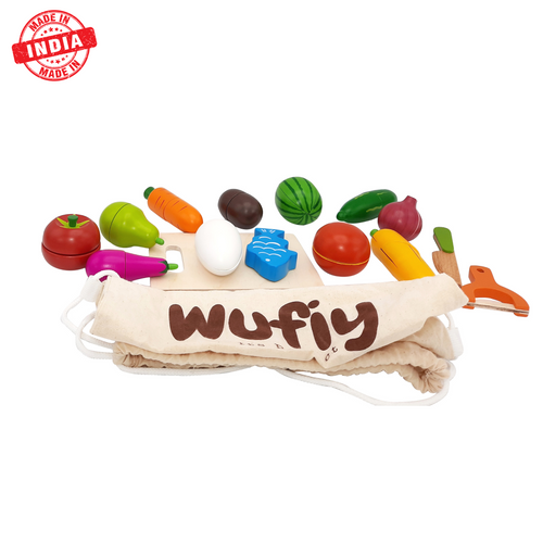 Buy Wufiy Chop Chop Vegetarian Cutting Set Pretent Play Toy - GiftWaley.com