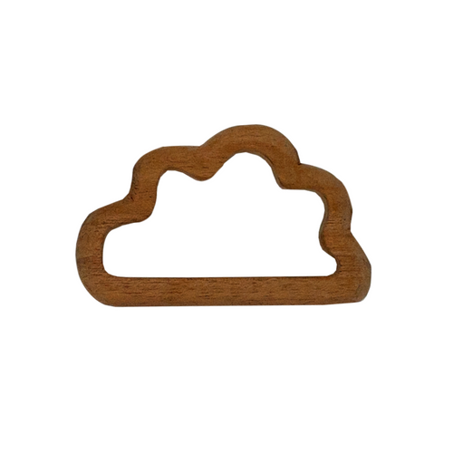 Buy Wufiy Cloud Shape Neem Wood Teether Glazed With Virgin Coconut Oil - GiftWaley.com