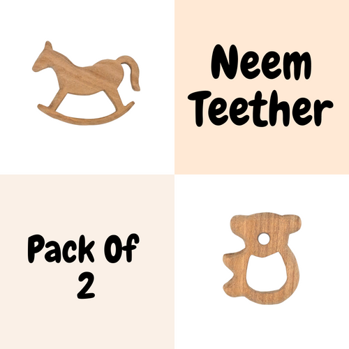 Buy Wufiy Horse & Bear Shape Neem Wood Teethers - GiftWaley.com