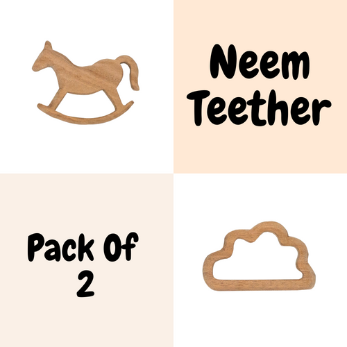 Buy Wufiy Horse & Cloud Shape Neem Wood Teethers - GiftWaley.com