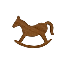 Load image into Gallery viewer, Buy Wufiy Horse Shape Neem Wood Teether Glazed With Virgin Coconut Oil - GiftWaley.com