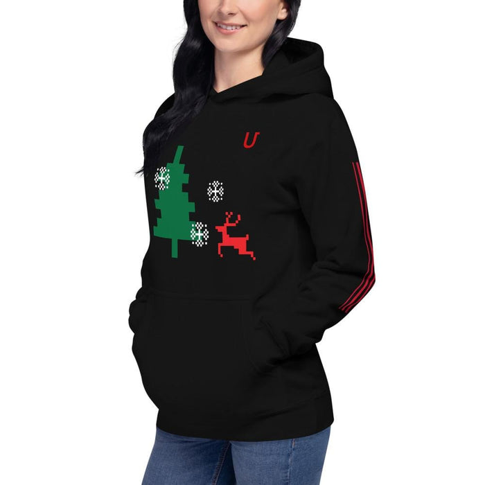 AwsomU Branded Unisex Hoodie for Men Women Black Gray AwsomU