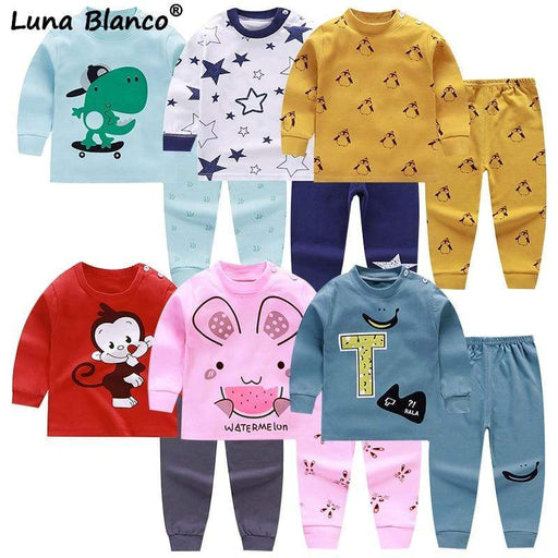 Baby Clothing Baby Boy Girl 2Pcs/set 6M to 5T cotton pants pajamas winter baby clothing thanksgiving baby Girl Baby's Sets AwsomU