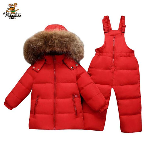 Boy's Snowsuits Boys Clothing Sets Warm Toddler Down Parka Jacket Coat Kids Snow Wear Boy Girl Snowsuit Fur AwsomU