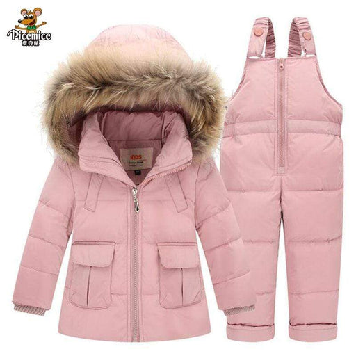 Boy's Snowsuits New 2020 Baby Girls Boys Winter Down Clothes Sets Outdoor Warm Infant Suits Thick Coats Overalls AwsomU