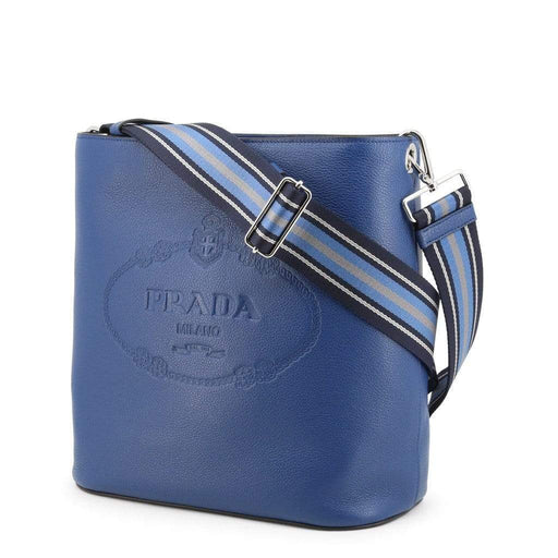 Crossbody Bags Prada Original Exclusive Luxury Crossbody Bag Blue Brown 1BE023 PHENIX AwsomU