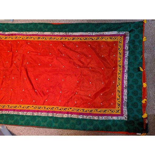 Designer Sarees Fine Handword Red and Green Designer Pure Silk Saree AwsomU