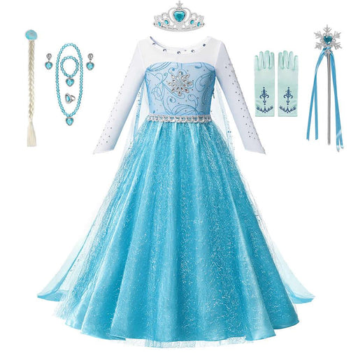 Girl's Clothing Girl Elsa And Anna Fall Princess Coronation Dress Kids Carnival Costumes Baby Girl Halloween Party Outfits AwsomU