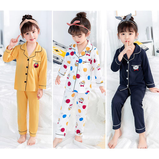 Girl's Pajama Premium Children's Pajamas For Girls Short Top AwsomU