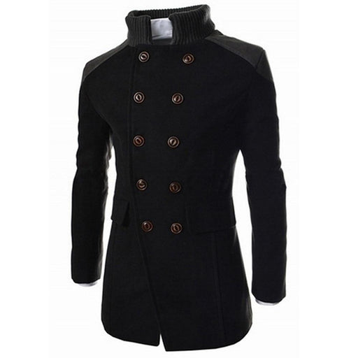 Men's Coat Men's Warm Winter Trench Long Smart Overcoat AwsomU