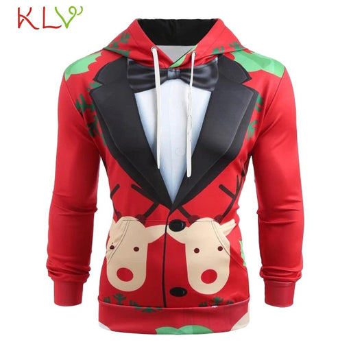 Men's Hoodie Men Winter Jacket Christmas Hoodie Sweatshirt Warm AwsomU