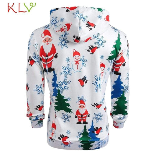 Men's Hoodie Men Winter Jacket Hoodie Christmas Warm AwsomU