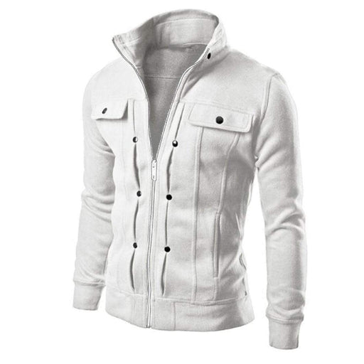 Men's Jacket Men's Fashion Slim Jacket Full Collar Zipper AwsomU