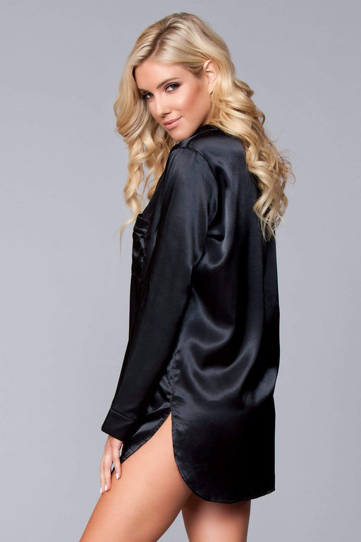 Pajamas, Robes & Loungewear BW1788BK Kimberly Satin Sleepshirt AwsomU