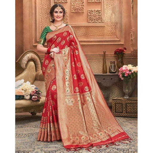 Traditional Sarees Women Sari Ethnic Style Silk Embroidered Include Stitched Blouse Petticoat AwsomU