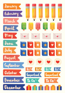 Monthly Planner Stickers, The Little Red House