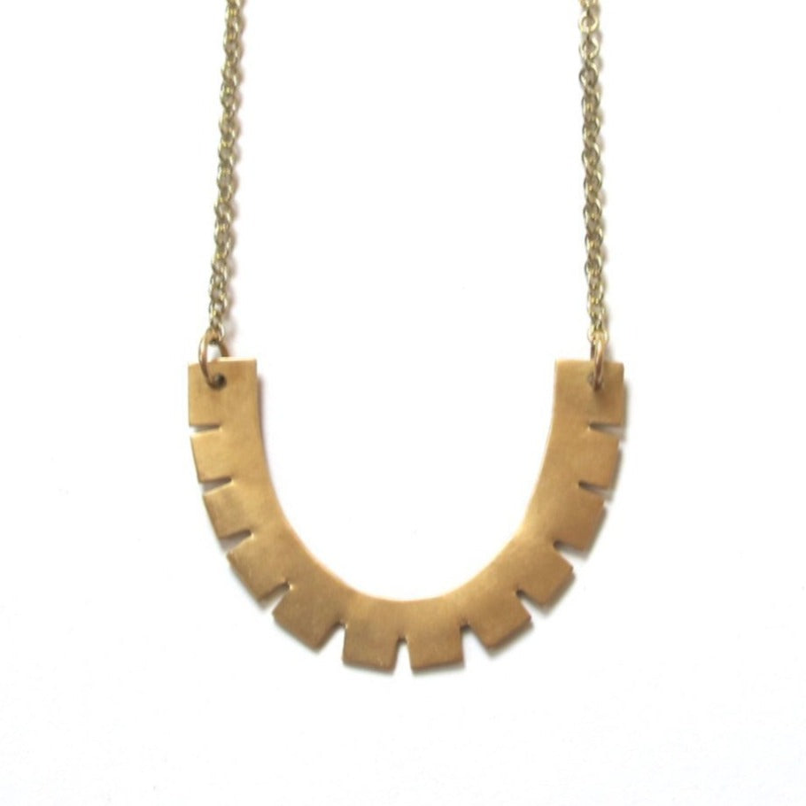 Birch Arc Necklace, 34""