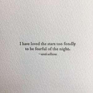 I Have Loved The Stars Too Fondly Card, Lark Press