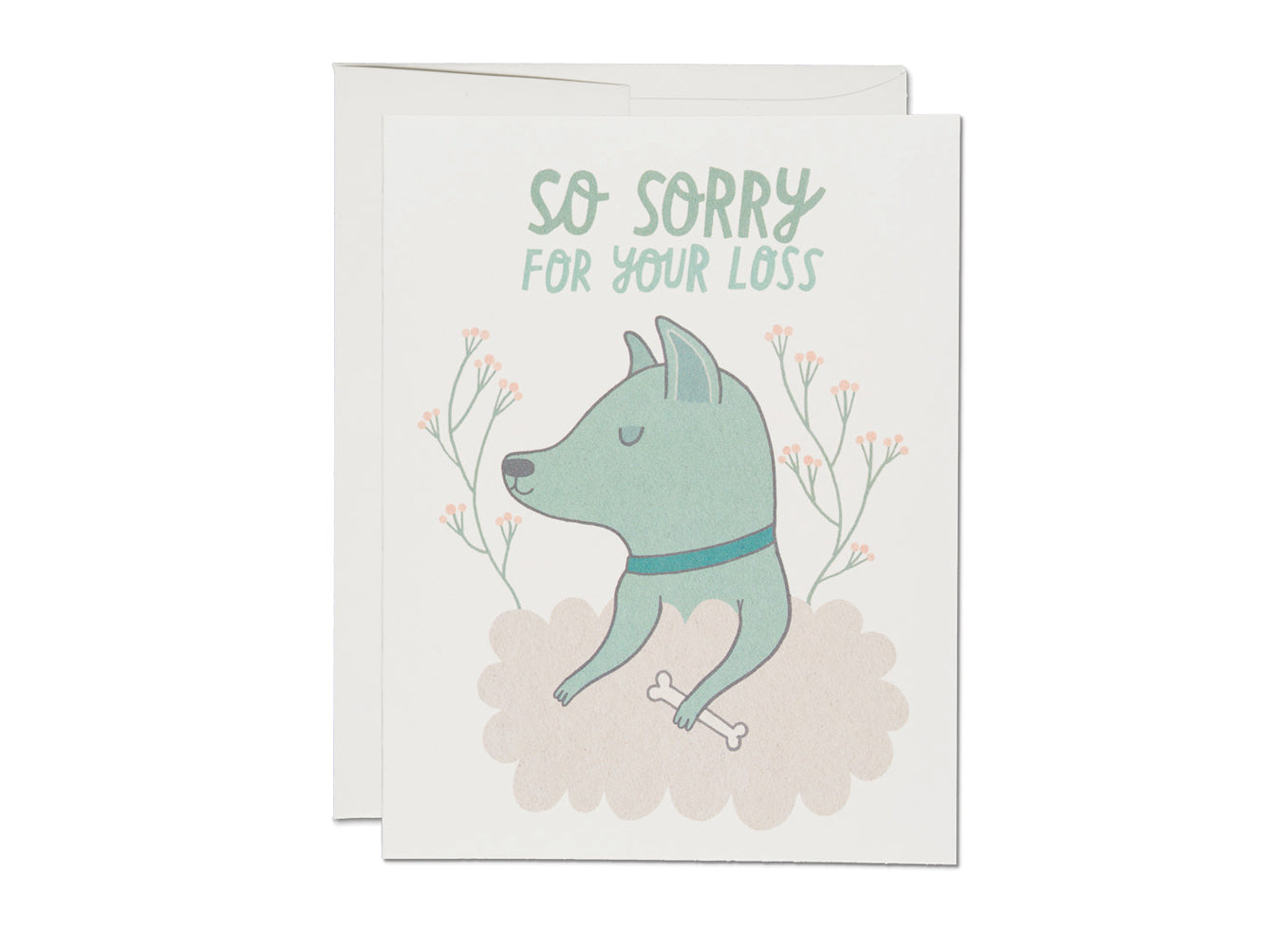 Dog Sympathy Card, Red Cap Cards