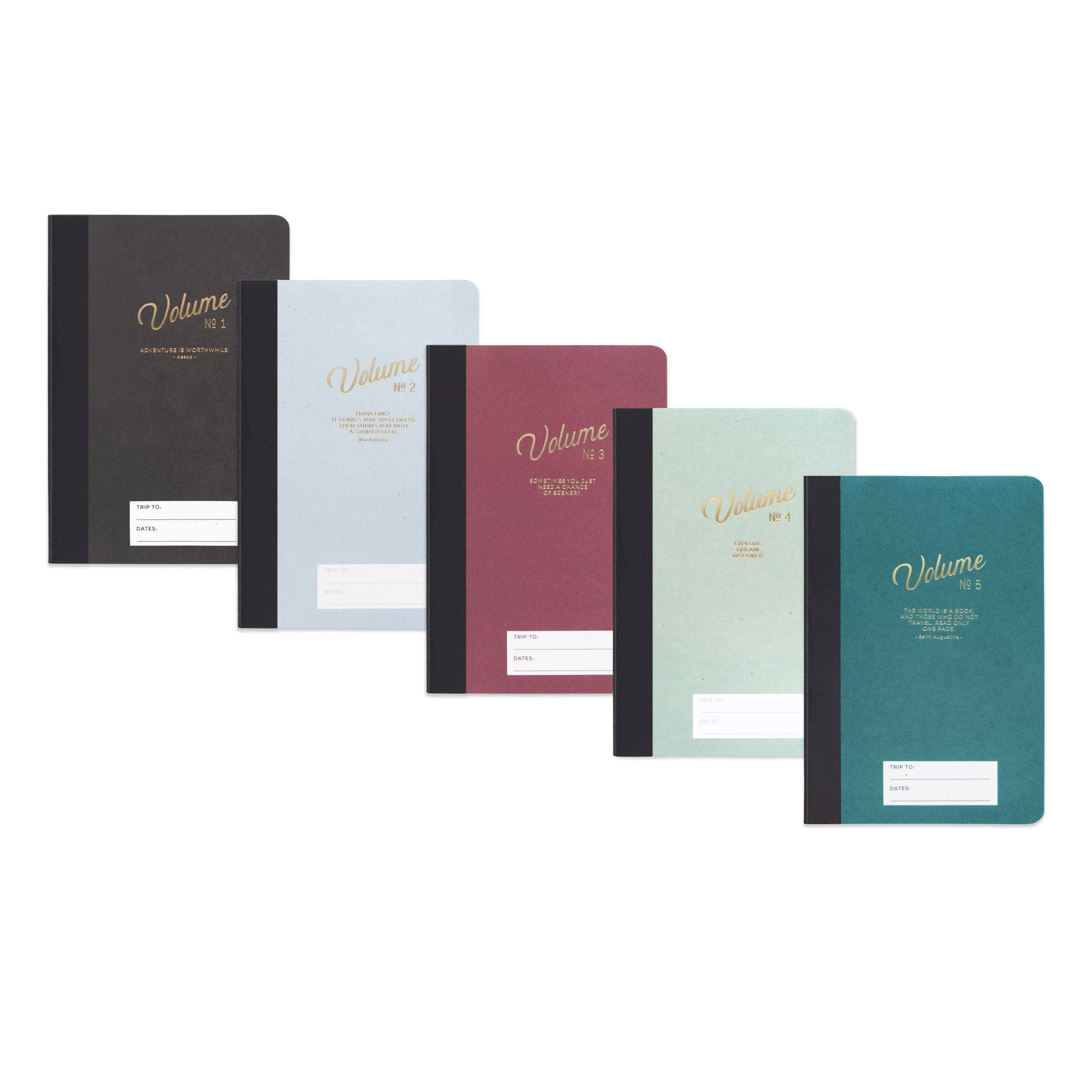 Adventure/Travel Notebooks (Set of 5), Designworks Ink