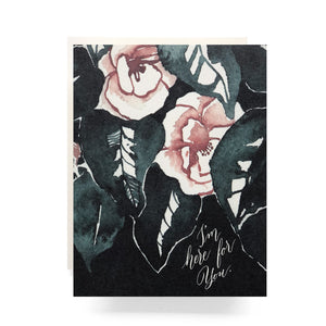 Magnolia I'm Here For You Greeting Card, Antiquaria