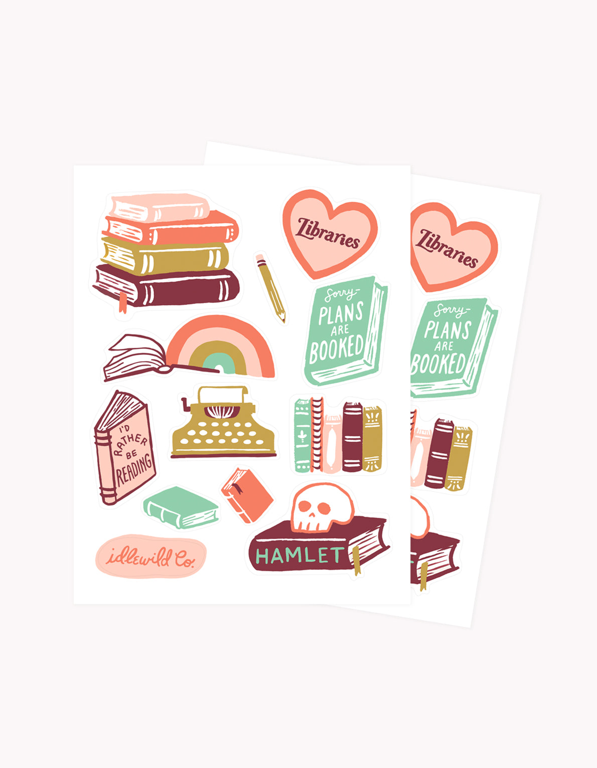 Bibliophile Sticker Sheet