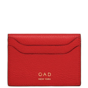 OAD Billy Red Leather Card Case