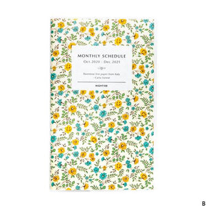 2021 Slim Carta Varese Monthly Planners, Hightide