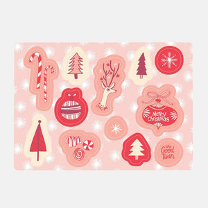 Christmas Sticker Sheet, The Good Twin