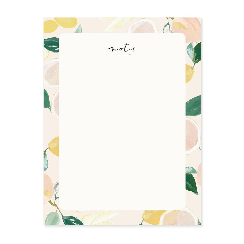 citrus blank everyday notepad our heiday