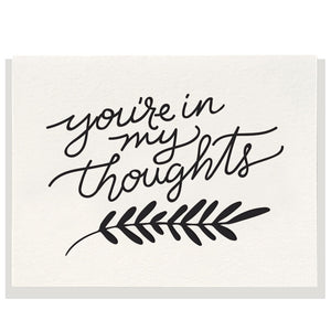 You're In My Thoughts Card, Dahlia Press
