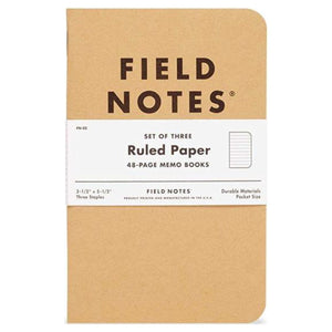 Kraft Notebook Trios, Field Notes