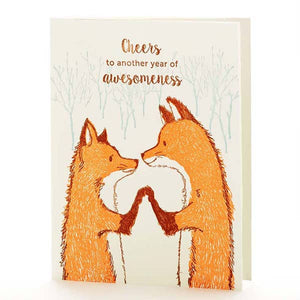 Cheers Foxes Anniversary, Ilee Papergoods