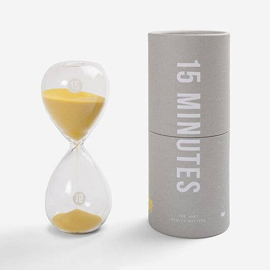 15 Minute Glass Sand Timer, The School of Life