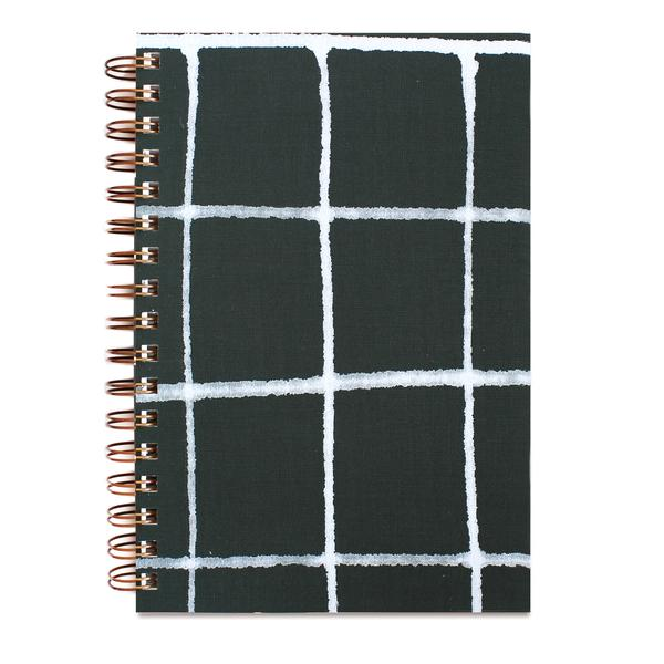 Painted Green Grid Notebook, Moglea