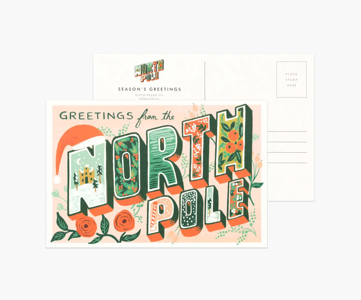 Greetings From North Pole Boxed Postcards, Rifle Paper Co.