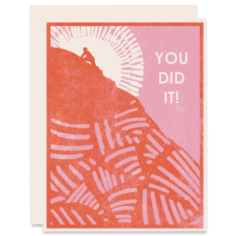 You Did It! Card, Heartell Press