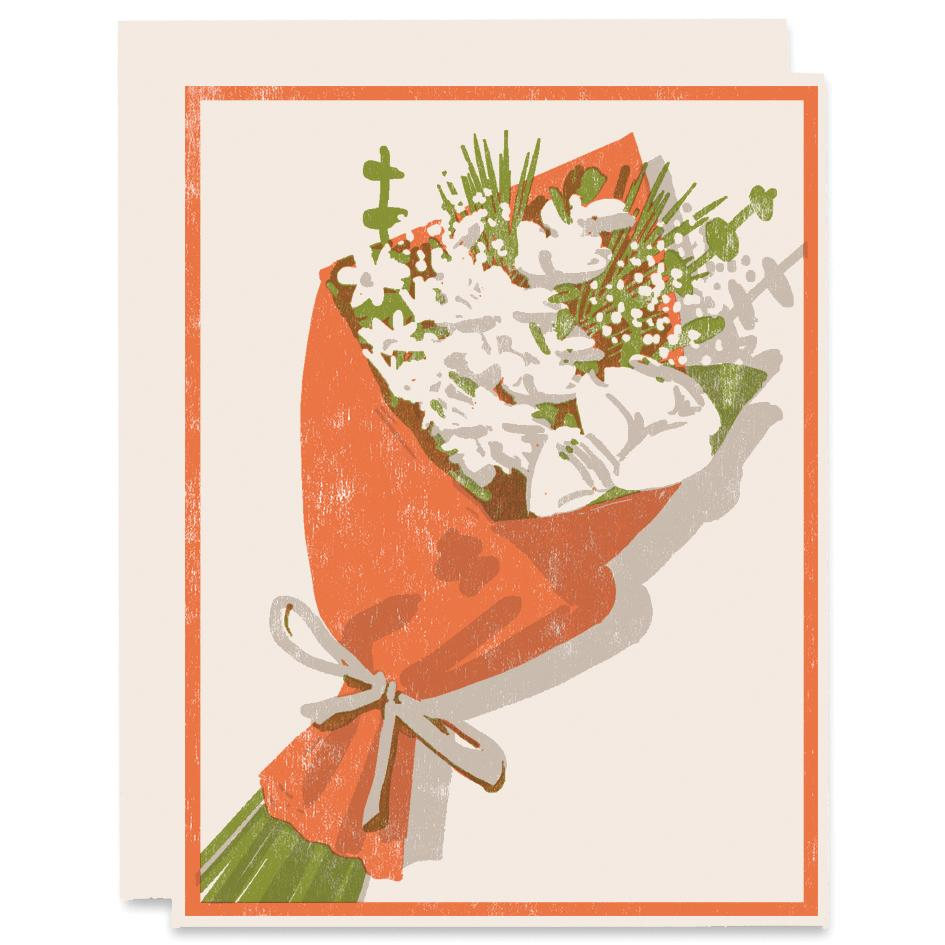 Heartell Press, Bouquet Card, Greeting Card, Brown Paper Bouquet