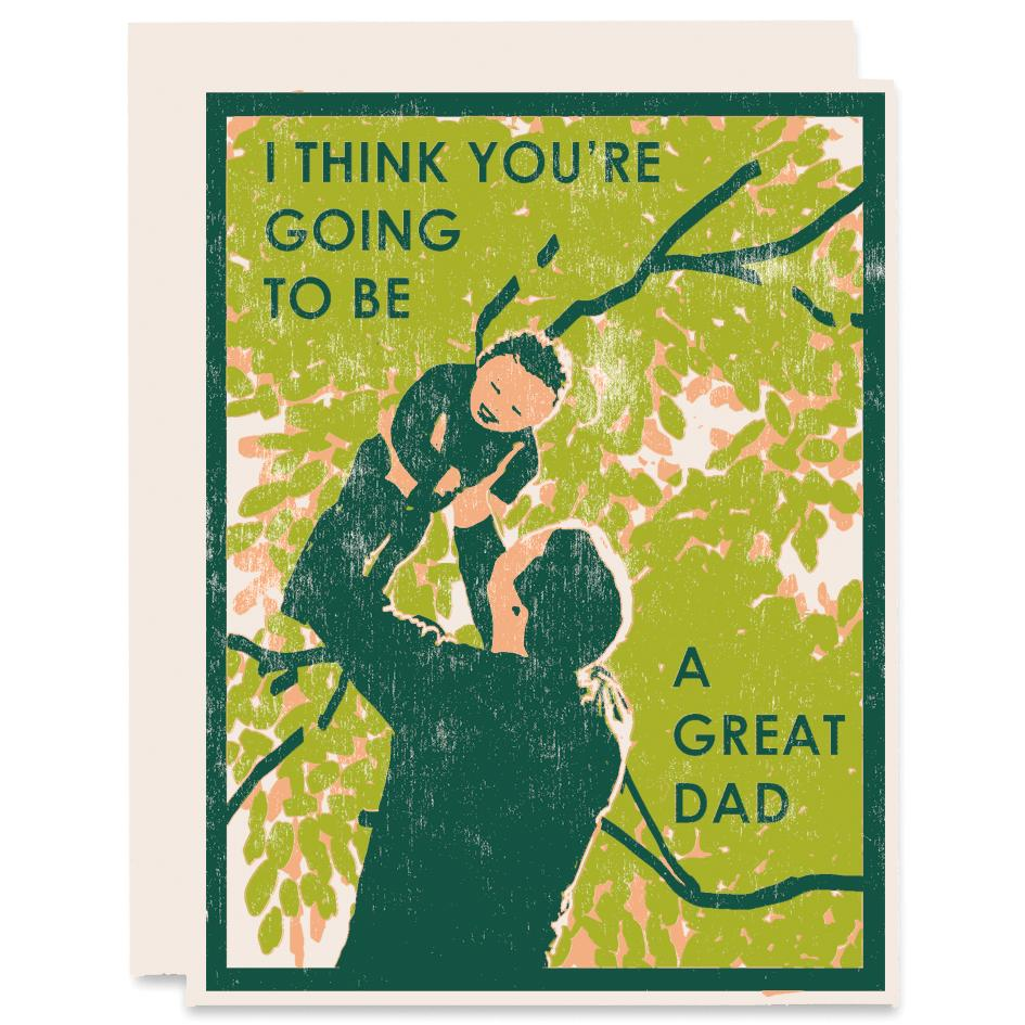 Great Dad (To Be) Letterpress Card, Heartell Press
